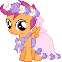Scootaloo at the wedding by Sky-Winds