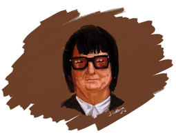 Roy Orbison Sketch by TheBigDaveC