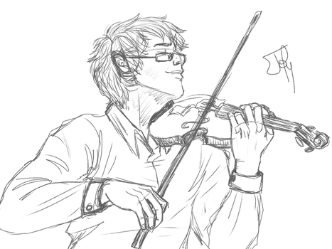 Les Miserables: VIOLINS ARE REALLY HARD TO DRAW by NancyStageRat
