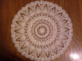 Pineapple Round Doily by koepr5333