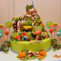 the encanted mountain - cake by rosecake