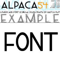 ALPACA54 TTF FONT by KeepWaiting