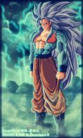 DragonballX_SSJ5Goku by GreenChen
