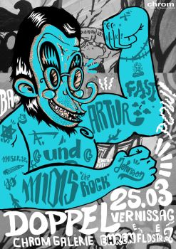 VERNISSAGE Flyer by M1as