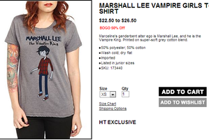 Marshall Lee Shirt! by asian-otaku64
