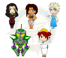 Assorted Chibis - Mr and Mrs DANGEROUS! by Dragon-FangX