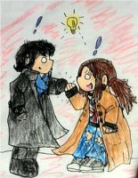Sherlock and Ella by FangirltoIsengard