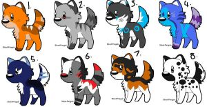 Dog adopts (2 left)(pick your price) by darkcat1999