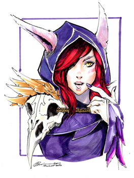 Xayah Copic Marker Sketch by G21MM