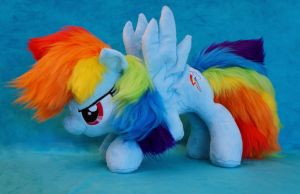 Rainbow Dash Starting plush by Fafatacle
