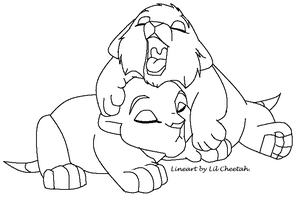 Baby Cubs Lineart by Lil-Cheetah