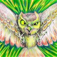 evil owl by Duckweed