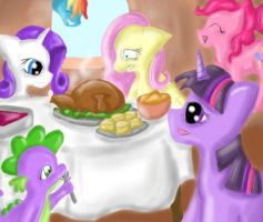 A Ponyville Thanksgiving by SpectralPony