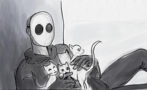 Jack and his Kitties by LinmirianJoyrex