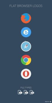 FREE Flat Browser Logotypes by MarinaD