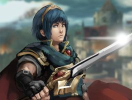 Marth Speed Paint by nin-mario64