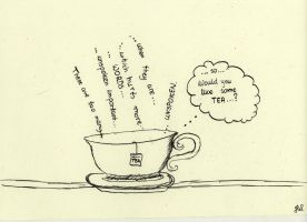 A cup of tea. by JillyWhite