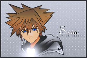 My first drawing of Sora by blueaqua77