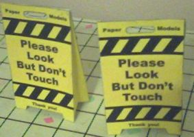 please dont touch sign by ganon-destroyer
