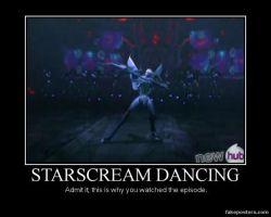 Transformers: Prime Patch Starscream Dancing by Onikage108