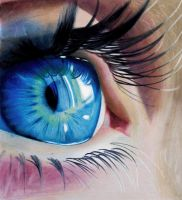 Blue Eye - Colored Pencils by f-a-d-i-l