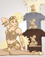 steampunk pinup - mockup by eri-phyle