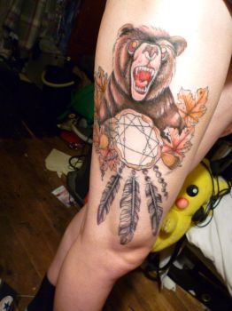 Bear Tattoo Coloured by The-Angels-Sanctuary