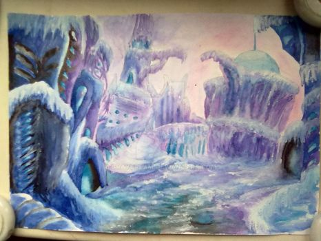 Mountains of Madness (watercolor) by graycream