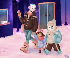 Cold Night Out by SuperBecky