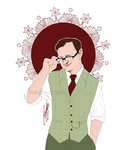 Mycroft - Glasses Casual by RedPassion