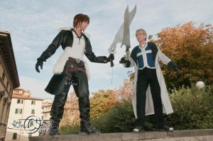 Seifer and Squall battle by DocSkavenger