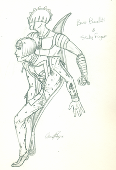 Buccellati and Sticky Fingers [Pencil] by Keikuina