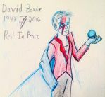 David Bowie, king of Goblins and spider from Mars by disneyangel89