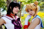 Sailor Mars and Moon Fan Expo 2014 by Lightning--Baron