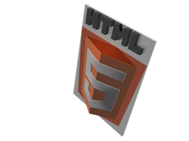 3D HTML5 Logo by mbingcacad