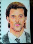 Bollywood star Hrithik Roshan's portrait by TheComicArtist