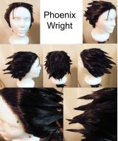 Wig Commission: Phoenix Wright (Ace Attorney) by S-Xasus