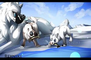 Piebald Fishing Trip by Reyniki