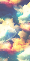 Rainbow Sky Custom Box Background. by Sarah--Elizabeth