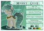 Mossy Cove - Reference Sheet by Kazziepones