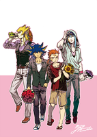 Men and Bouquets by akensnest