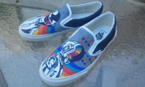 Daft Punk Custom Shoes Dynamic View by Kyg0n
