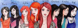 The Lizzie Bennet Diaries- The girls by ombradellaluna