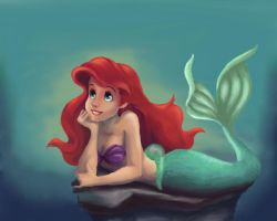 The little mermaid by taratjah