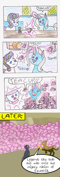 Trixie Teacups Equestria by Skiskir