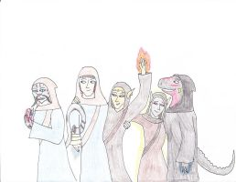 The Winterhold Five by gangyzgirl