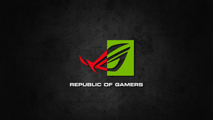 Republic of Gamers NVIDIA Wallpaper by biosmanager
