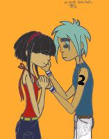2D and Noodle - coloured by AidaSechem