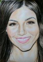 Victoria Justice drawing by joksie