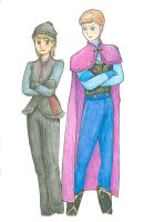 Genderbent Kristoff and Anna by annamae411